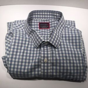 UntuckIt Gingham Blue White Longsleeve Button Down